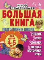 Большая книга подготовки к школе для детей 4-5 лет. Чтение