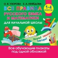 Все правила русского языка и математики для начальной школы